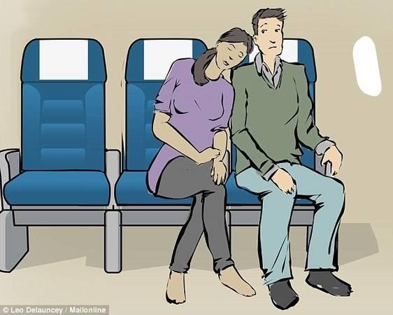 Trên một chuyến bay đường dài, một giấc ngủ sẽ giúp bạn tránh mệt mỏi. Dù không gian nhỏ, bạn vẫn có thể xoay xở nhiều cách để chợp mắt. Ngiêng về phía cửa sổ: Lợi thế vững chắc của thân máy bay khiến nghiêng về phía cửa sổ là tư thế tốt để ngủ. Dù có gối hay không, nghiêng vào vách cabin luôn khiến du khách có chỗ dựa để chợp mắt mà không gây phiền đến ai. Nghiêng về phía cửa sổ: Lợi thế vững chắc của thân máy bay khiến nghiêng về phía cửa sổ là tư thế tốt để ngủ. Dù có gối hay không, nghiêng vào vách cabin luôn khiến du khách có chỗ dựa để chợp mắt mà không gây phiền đến ai. Gối vào bàn để khay thức ăn: Chiếc bàn nhỏ này khá chắc chắn, nên sau khi bữa ăn kết thúc, hãy ngả nó ra và gối lên ngủ. Tuy nhiên, vị trí này không thích hợp cho những người có chiều cao hơn bình thường, bởi có thể gây đau cột sống. Gối vào bàn để khay thức ăn: Chiếc bàn nhỏ này khá chắc chắn, nên sau khi bữa ăn kết thúc, hãy ngả nó ra và gối lên ngủ. Tuy nhiên, vị trí này không thích hợp cho những người có chiều cao hơn bình thường, bởi có thể gây đau cột sống. Bờ vai người bên cạnh: Chuyến bay là nơi tuyệt vời để gặp gỡ mọi người, và nếu bạn và người ngồi bên cạnh đều cảm thấy thoải mái, đừng ngại ngần mượn bờ vai của họ vài tiếng. Bờ vai người bên cạnh: Chuyến bay là nơi tuyệt vời để gặp gỡ mọi người, và nếu bạn và người ngồi bên cạnh đều cảm thấy thoải mái, đừng ngại ngần mượn bờ vai của họ vài tiếng. Ghế giữa: Hàng ghế giữa đôi khi gây khó chịu vì phải chia sẻ tay vịn với người ngồi kế, nhưng nếu để ngủ, ghế giữa lại là vị trí thích hợp. Bạn sẽ không phải đứng lên ngồi xuống, hoặc co chân để người bên trong ra ngoài khi có việc. Một số hãng hàng không trang bị ghế có thể điều chỉnh phần tựa đầu, cho phép du khách thay đổi tư thế để có giấc ngủ thoải mái. Ghế giữa: Hàng ghế giữa đôi khi gây khó chịu vì phải chia sẻ tay vịn với người ngồi kế, nhưng nếu để ngủ, ghế giữa lại là vị trí thích hợp. Bạn sẽ không phải đứng lên ngồi xuống, hoặc co chân để người bên trong ra ngoài khi có việc. Một 
