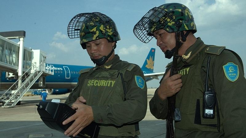 An Ninh khu vực sân bay Nội bài Hà nội